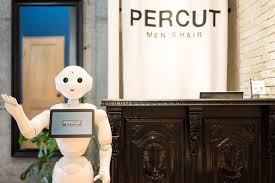 pepper the robot suggests what haircut is best for you at japanese