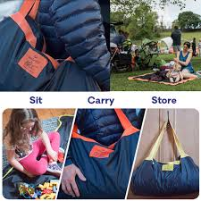 Patio Cushion Storage Bags 2 In1 Storage Bag And Outdoor Moisturepring Foldable Camping Mat