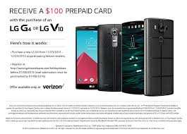 black friday verizon buyers of either a verizon lg g4 or lg v10 can claim up to 200 in