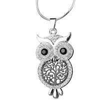 owl and tree of pendant necklace cool shop com