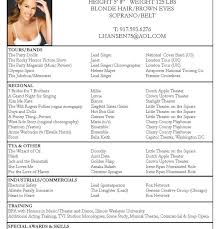 Acting Resume Special Skills Examples by Acting Resume Header Example Free Acting Resume Samples And