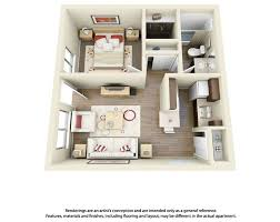 Best D Floor Plans For Apartments Images On Pinterest - One bedroom apartment designs example