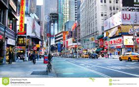 downtown street in new york editorial stock image image 46592199
