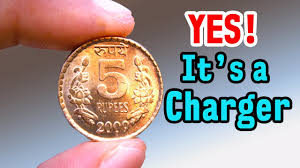 charge your phone using coin amazing science experiment the