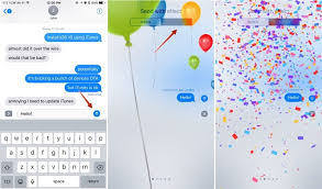 send balloons how to use messages tapback screen effects and effects in