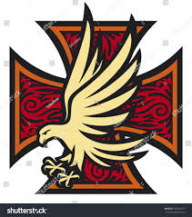 iron cross eagle tattoo style stock vector 100462777 shutterstock