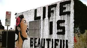 hd life is beautiful graffiti wallpaper
