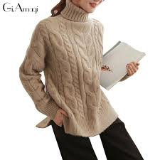 high sweaters winter sweater sleeve high neck pull