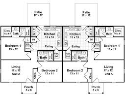 Cottage Floor Plans One Story Best 25 Duplex Plans Ideas On Pinterest Duplex House Plans