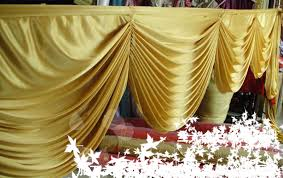Wedding Backdrop Gold Aliexpress Com Buy 6 Meter Gold Color Detachable Swags For