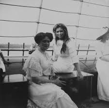 beinecke rare book and manuscript library alexandra and olga behind her with another daughter to right