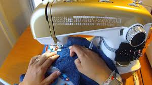applique zig zag faire un appliqué coton sur coton au point zig zag serré
