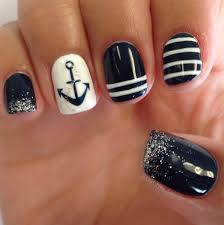 sailor anchor gel nail art design nail art pinterest gel