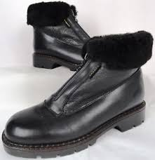 s shearling boots canada blondo canada leather w shearling waterproof boots 8 m black