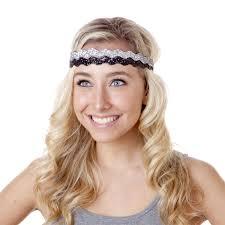 hipsy headbands hipsy adjustable no slip bling glitter black wave headband