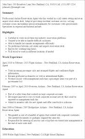 Sample Resume For All Types Of Jobs by Professional Airline Reservation Agent Templates To Showcase Your