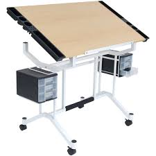 Creation Station Studio Desk by Studio Designs Vision 2 Piece Craft Center Walmart Com