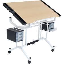 Art Studio Desk by Ameriwood Home Sidney 4 Drawer End Table Black Walmart Com