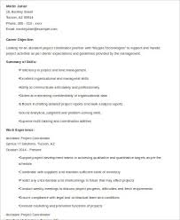 Sample Resume Of Project Coordinator by Sample Project Coordinator Resume 8 Examples In Word Pdf