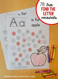 alphabet worksheets for preschoolers free preschool do a dot