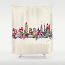 Skyline Shower Curtain Shop Texas Shower Curtain On Wanelo