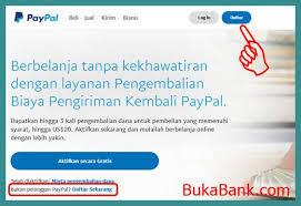 cara membuat paypal online cara membuat account paypal dengan kode rekening bank lokal