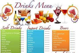 drinks menu template drink menu template 5 best drink menu