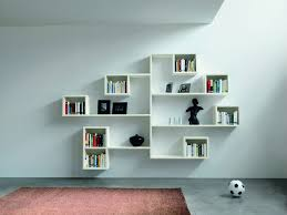 Wooden Wall Bookshelves by White Low Wall Shelves Decorating Ideas Let U0027s Create The Simple