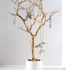 jewelry holder organizer tree gold white from bluravendesigns on