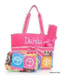 quilted personalized bag bag diapers and baby
