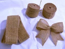 rustic ribbon 3mtrs soft woven rustic jute burlap hessian ribbon chair