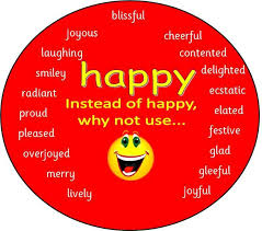 happy different ways to say happy