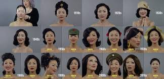 100 years hairstyle images different perceptions of beauty over 100 years in north and south