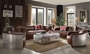 Top Grain Leather Living Room Set by Top Grain Leather Living Room