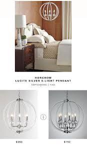 Overstock Lighting Pendant Horchow Silver Lucite 6 Light Pendant Copycatchic