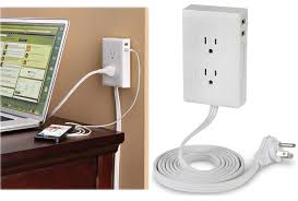 no more crawling under the desk to plug things in with the wall