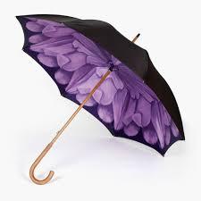 violet purple petrichor high quality umbrella with purple flower inside