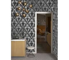 damsel metallic silver tempaper removable wallpaper silver