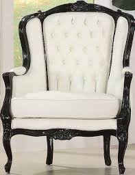 White Accent Chair Stunning White Accent Chair Neo Classic Black Leather Like Vinyl