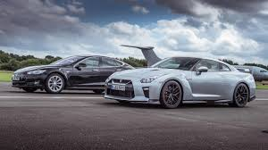 nissan christmas top gear drag races tesla model s p90d vs nissan gt r top gear