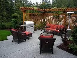 cute backyard designs with concrete backyard patio designs home