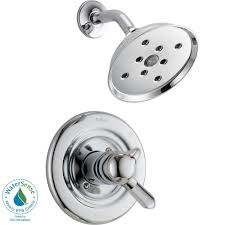 Shower Only Faucet Delta Set Of 3 Handle Tub And Shower Faucet Metal Escutcheons And