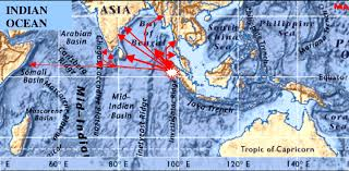 travel directions images Ocean floor map of north indian ocean with tsunami generation png
