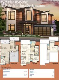 modern homes plans modern house plans ester four bedroom two story floor ranch two