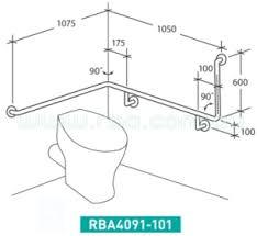 Bathroom Rails Grab Rails Accessible Disabled Grab Rails Rba Group Bathroom Products