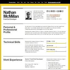 Front End Developer Resume Sample by The Best Resume Template Billybullock Us