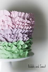 cakes candy and flowers bubble and sweet how to make a ruffled buttercream rainbow cake