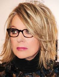 cropped hair styes for 48 year olds shoulder length hairstyles over 50 diane keaton layered bob