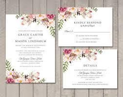 wedding invitations etsy unique wedding invitations etsy wedding invitation design