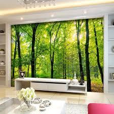 chambre jungle personnalisé 3d murale papier peint jungle forêt tropicale paysage